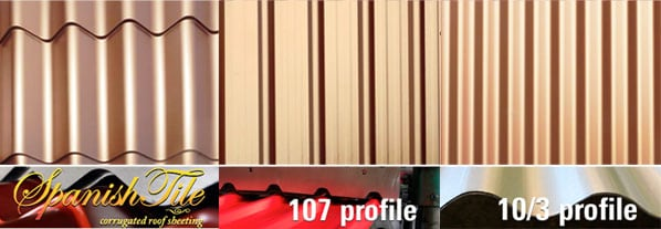 Spanish Tile 107 and 10 3 Profiles
